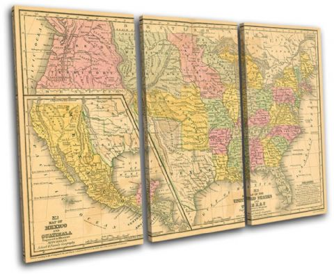 Old USA American Atlas Maps Flags - 13-1782(00B)-TR32-LO